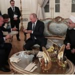 پذیرایی اردوغان با انجیر از روحانی و پوتین !